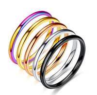 2 mm in acciaio in acciaio in acciaio sottile versione coreana femminile della rete anello di minoranza Popolare Popolare in acciaio inox europeo e americano in acciaio inox