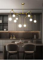 Nordic люстры постмодернистской гостиной горит американский ретро творческой столовой подвесные светильники из кованого железа, ивы подвесные светильники