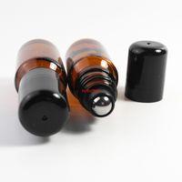 Mini 5ml 10ml roll âmbar em garrafa de rolos para óleos essenciais Perfume recarregável recipientes de desodorante Embalagem 500pcs / loterpls