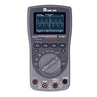 2 en 1 Osciloscopio de almacenamiento digital inteligente One Key Auto Auto Oscilloscop Tester Multímetro 40MHZ 200 MSPS / S 6000 Cuentos VERDADEROS RMS