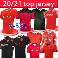 2020 2021 Wales Rugby Nationalmannschaft Jerseys Cymru Home Red Away Herren Polo T-Shirt E Herren Rugby Training Jesery Uniformen S-5XL
