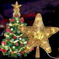 Weihnachtsbaum oben Lichtstern Schneeflocke Form LED Schneesturm Schneemann Streifen Projektor Lichter Weihnachtsbaum Ornament 201127