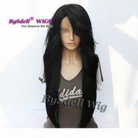 Celebrity Nicki Minaj Super Long Long Floot Steal Hairstyle WIG Sintético Yaki Pelucas delanteras del cordón del pelo para la dama de aspecto natural