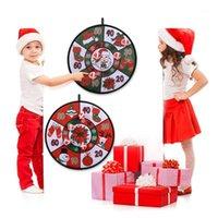 크리스마스 공 다트 보드 게임 세트 크리스마스 파티 게임 다트 보드 벽에 애들을위한 4 공을 매달려 새해 2021 gifts1