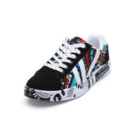 Sıcak Satış toptan 2019 Yaz Kadın Sneakers Beyaz Günlük Ayakkabılar Aşıklar Baskı Moda Düz Bayan Ayakkabı Vulkanize zapatos de mujer Z08
