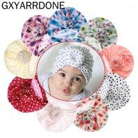 2020 العلامة التجارية الجديدة أزياء الوليد طفل أطفال بيبي بوي فتاة العمامة القطن قبعة قبعة الشتاء قبعة زهرة دونات هاتس 1