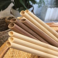 Buvant des pailles UPORS 50PCS / SET BAMBOO PAILLE 20CM Réutilisable ECO Natural Natural Organic for Bar Party Yerba Mate1