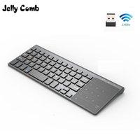 Jelly pettine 2.4g Tastiera wireless con tastiera numerica del mouse del touchpad del numero per il tastiera numerico del mouse per Android Windows Desktop Laptop PC TV Box1