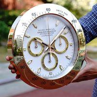 노르딕 로즈 골드 큰 벽 시계 금속 럭셔리 현대 시계 벽 시계 디지털 빛나는 relogio 드 Pearede 홈 장식 선물 L043 T200601