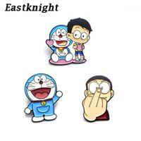 Épingles, Broches V274 Doraemon Dessin animé Pince mignonne Métal Enamel et revers de mode Sac à dos Sacs à dos sacs Badge Collection Cadeaux1