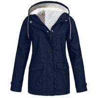 40 # 솔리드 컬러 방수 재킷 숙녀 후드 클래식 Softshell 비옷 야외 코트 윈드 브레이커 outwear windproof