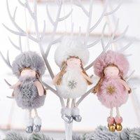 Decorações de Natal para Home Plush Angel Doll boneca de Santa de suspensão ornamento Natal da boneca decorações do ano novo