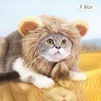 Аксессуары для одежды для собак Смешная кошка и шляпа домашнее животное симулятор льва танец грива уши головной шапка шарф хэллоуин праздник костюм1