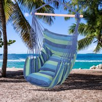 와코 파티오 코튼 교수형 로프 해먹 의자, 정원 용품 마당 현관 나무 캠핑 실내 옥외 가구 스윙, 블루