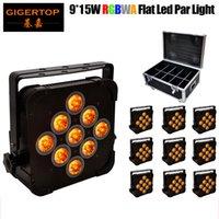 TIPTOP 10pcs / lot RGBWA 5IN1 plat Slim Aluminium Led Par lumière 140W Fermeté Durabilité DMX 5 / 9CH plat LED Par Can Équipements