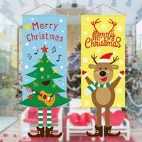 Drapeau Hanging Joyeux Noël Supermarché Accueil Arrangement Bannière Atmosphere Décorations Tissu Art Tree Pendentif de haute qualité 8 5JQ F2