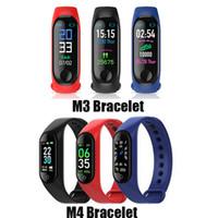 Новый M3 M4 Smart Band Fitness Tracker Sport Bracte Bracte Bracte Rate Smart Watch 0.96 дюйма Smartband Monitor Worldband Woristband PK MI Band 4