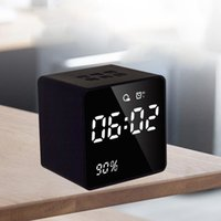 LED Alarm Clock with FM Radio Bluetooth Speaker Wireless AUX...