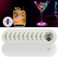 Yenilik Aydınlatma Glow Coaster LED Şişe Işık Çıkartmalar Festivali Gece Kulübü Bar Parti Vazo Dekorasyon İçecek Kupası Mat