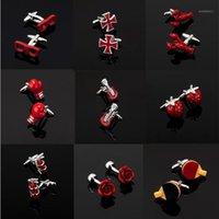 Série de haute qualité pour hommes d'autres boutons de manchette rouge / lunettes / bouteille de coke cross Symboles de musique Extincteur Cufflinks1