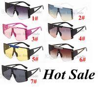 Grande quadro vintage clássico novo designer moda óculos de sol mulheres quadro de alta qualidade óculos de sol senhora senhora quente 7 cores 10 pcs