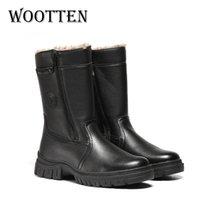 Wootten Warmest-Schuh-Leder handgemachte für Männer-Plattform-Stiefel Winter # YM5223C2 201027