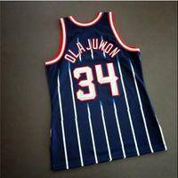 Özel 604 Gençlik Kadın Vintage Hakeem OLAJUWON Mitchell Ness 96 97 Koleji Basketbol Forması Boyutu S-4XL veya Özel Herhangi Bir Adı veya Number Jersey