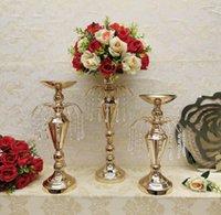 Party Dekoration 10 stücke Home Blume Vase Kerzenständer Kristall Anhänger Brunnen geformt für Blumenhalter Hochzeit Tisch Mittelstücke Dekor