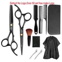 CB009 Private Logo Профессиональный парикмахер ножницы Набор для волос Ножницы Hairdressing Разбавление ножницы волос Гребень для салона Аксессуары Использование