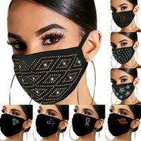 Women's Crystal Glitter Rhinestone Sparkle Bling Reusable Face Mask Covering Fashion Flash Rhinestone Masquerade Party Face Masks for Wome