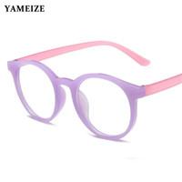 YAMEIZE Anti Blau lichtundurchlässige Brille für Kinder Kinder-optisches Feld Transparent Computerspiel Brille entspiegeltes Glas