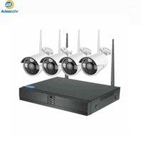 4CH NVR HD 2MP CCTV نظام لاسلكي سجل الصوت في الهواء الطلق P2P WIFI IP أمان كاميرا مجموعة فيديو مراقبة كيت 1