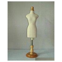 Versand! Weibliche kleine Sizeg, Schaufensterpuppe Nähen für Kleidung, MANEQUIM Busto Kleidform Stand1: 2 Skalene-Trikot-Büste mit Knopfholz K23et