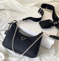 2 pcs definir fashionre-edition 2005 nylon mulher luxurys designers sacos senhora mulheres crossbody tote hobo ombro bolsas bolsas bolsas bolsas bolsas bolsas