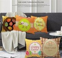 Модные дизайнеры Пасхальные яйца льняные подушки чехлы подушки подушка 45см 2021 пасхальный день домашнего дивана подушки вечерние украшения подарки LLY2012