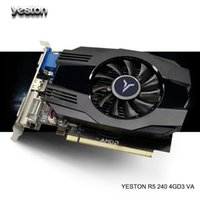 Yeston Radeon R5 240 GPU 4GB GDDR3 64bit Gaming Desktop PC Видео Графические карты Поддержка VGA / DVI-D / HDMI