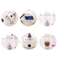 Dozzlor 600ml Mélangeur Bouteille d'eau portable Automatisation électrique Protéine Mouvement automatique Creative Cafe Milk Smart Y200330