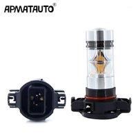 2pcs Bianco Amber Giallo PSX24W H16 5202 Alta potenza 100W 3030 20SMD Lampadine LED per le luci di marcia di nebbia o diurna 12V-24v1