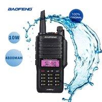 BAOFENG radio de dos vías UV-9R PLUS teclado de doble banda IP67 baofeng 9R radioaficionado móvil impermeable walkie talkie de mano