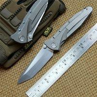 케빈 존 MT SOCOM S35VN 스틸 폴딩 나이프 TC4 핸들 야외 캠핑 사냥 칼, EDC 도구