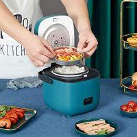 Fogões de arroz mini fogão 1.2L 1-2 pessoa casa eléctrica elétrica pequena máquina de cozinhar faz panela de sopa de portão fogões11