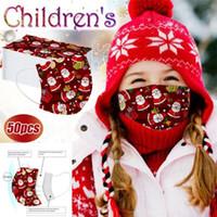 크리스마스 얼굴 마스크 산타 눈사람 선물 인쇄 키즈 성인 어린이 3 층 보호 건강 가면 위생 마스크
