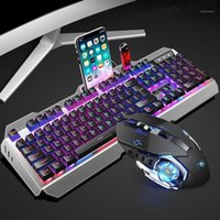 Wired 16 RGB Backlight Gaming Keyboard Mouse Set USB Mechani...