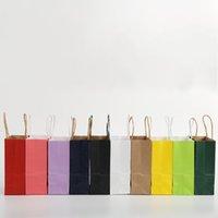 Sacchetti di carta Kraft Paper Portable Piazza Inferiore borsa di acquisto del pacchetto del sacchetto di colore di modo regalo durevole 0 38qw F2