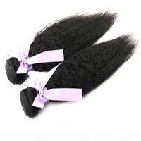 Paquetes de tejido de pelo recto pervertido brasileño 10-30 pulgadas de color natural 100% de tejido de cabello humano Remy Afro Pelo virgen brasileño