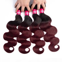 T1B Bourgogne Body Wave Ombre Body Wave Bonds Bundles Malaysian Ombre Human Hair Extensions Corps Virgin Vierge Cheveux