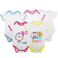 0-12 Months Newborn Baby pagliaccetti Blank sublimazione a trasferimento termico tuta Shorts manica corta tuta dei pantaloni di calore Stampa Outfits F102205
