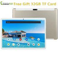Tablet PC 2021 10 pulgadas Global 4G LTE Bluetooth WiFi Phablet Android 9.0 MTK Core Dual SIM Tarjeta 2.5D 64GB (32GB + 32G TFCard) 1