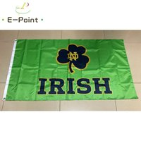 NCAA Notre Dame Борьба с ирландским флагом 3 * 5 футов (90см * 150см) Полиэстер Флаг Баннер Украшения Летающий Домашний Сад Флаг Праздничные подарки