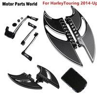 Motorrad Black Downboards Fuß PEG Schalthebel Bremse Arm Pedal Für Touring Electra Glide Bad Boy FXstsb Dyna Fat Bob1